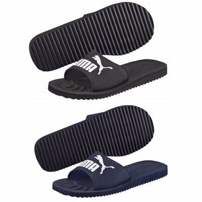 New Mens PUMA Pure Cat Navy & Black Sliders Flip Flops Size 7 8 9 10 11 12