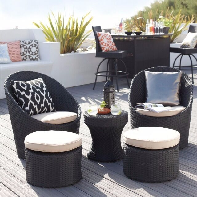 Marrakech 5 piece rattan garden lounge set in redditch for Outdoor furniture gumtree
