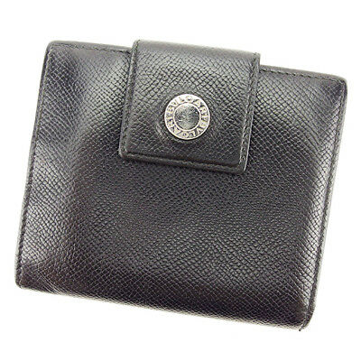 Auth BVLGARI Double Sided Wallet  Women