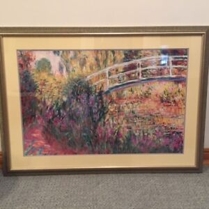 4 Professionally Framed Claude Monet Prints