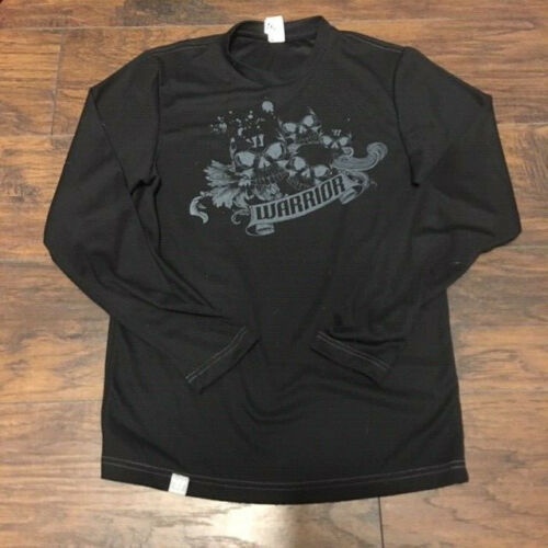 Warrior Sports black waffle Long Sleeve Tee Shirt Size Small