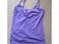 Minnies Boutique purple strap top - size 12 - new