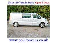 2017 (17) VAUXHALL VIVARO 2900 SPORTIVE L2 H1 LWB 6 SEAT CREW CAB 120BHP, Medium