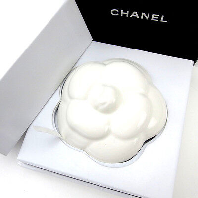 Auth CHANEL Figurines Camellia used G532