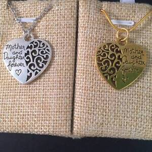 """Silver /Gold Mother and Daughter Forever"""" Heart Pendant  Gift Box Lawnton Pine Rivers Area Preview"""