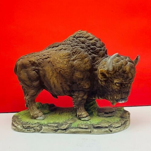 Andrea by Sadek Buffalo statue sculpture figurine 5955 japan bison porcelain vtg