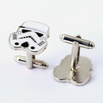 OFFICIAL DISNEY STAR WARS STORM TROOPER  CUFFLINKS MENS GIFT BOX (AL)