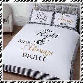Mr Right and Mrs Always Right Duvet Set