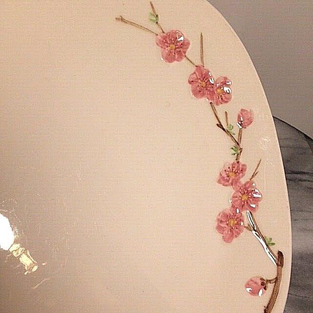 Vintage 1950s Metlox Poppytrail Peach Blossom 12.5 Chop Plate Platter - $19.99