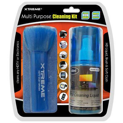 Xtreme Screen TV Electronic Laptop Camera Cleaning Kit Spray Brush