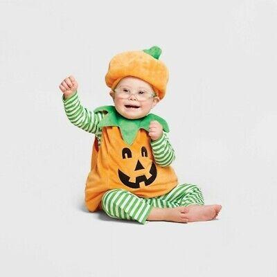 Jack O Lantern Costume (Baby Plush Jack O Lantern Pumpkin Halloween Costume Vest 12-18 M - Hyde & EEK!)