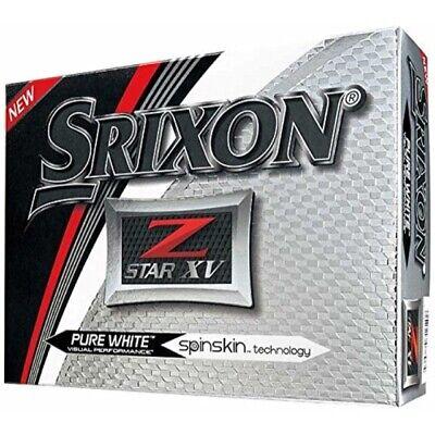 Srixon 2017 Z-Star XV Golf Balls 1 Dozen White