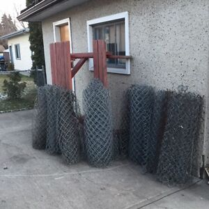Chain link fencing 3 ft. high