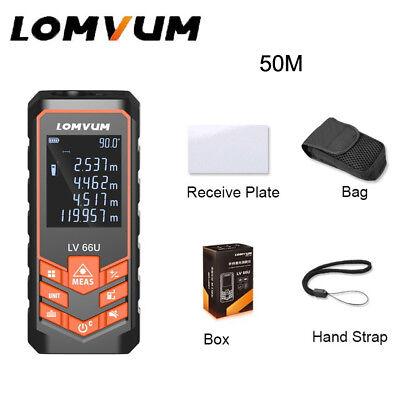 Lomvum 50m Digital Lcd Laser Distance Meter Range Finder Area Measuring Tool New