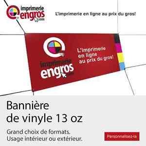 Impression Bannière en vinyle  ☏ 450-447-0578