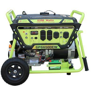 Green-Power America 6500 Watt 15 HP Portable Gas Power Generator/Electric Start