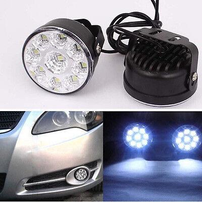 2X 9SMD Daytime Driving Running Light DRL Car LED Fog Lamp Head Light For Toyota