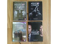House of Cards DVD's: Complete Seasons 1,2,3,4,
