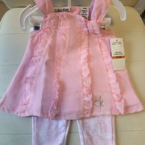 BRAND new with tags authentic Calvin Klein two piece baby girl