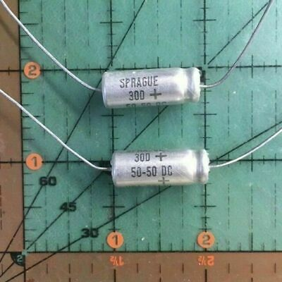 QTY 5 50UF 50-VOLT AXIAL 105-DEG 50MFD HIGH TEMP CAPACITOR