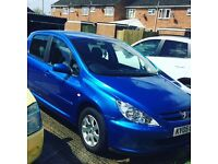 Peugeot 307 1.6 cc for sale for spares or repairs
