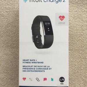 fitbit charge 2, HEART RATE + FITNESS WRIST BAND, STAINLESS STEEL TRACKER BLACK BAND, $159.99