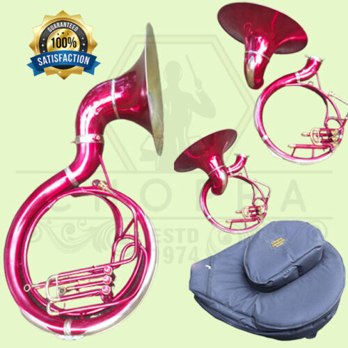 Buy SOUSAPHONE BRAND NEW 3 VALVE Bb FLAT PINK COLOR SHIPPING FREE Condition:New