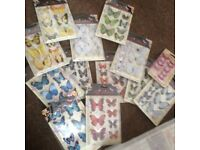 Foiled 3D Butterfly Stickers
