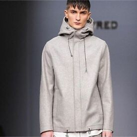 Whyred Norton Wool Jacket Coat Hoody Medium 46 EU Grey RRP £399 Melton Alexander Wang Supreme $150