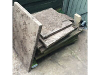 10 paving slabs / flags free