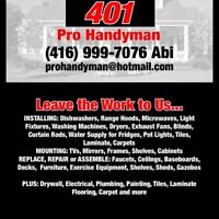 *** Handyman Services LOW RATES 416-999-7076 ***
