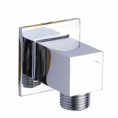 Royal Bath Shower Wall Mount Supply Square Elbow, Chrome
