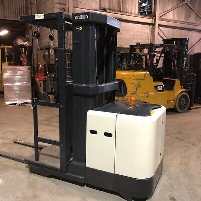 2008 Crown Sp3505-30 Order Picker Used Forklift Triple Mast 24 Volts Low Hours