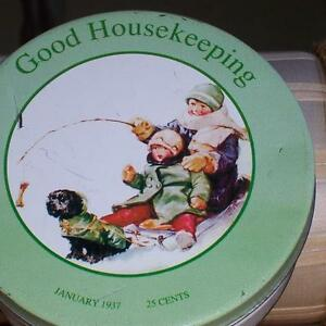 1937 GOOD HOUSEKEEPING TIN West Island Greater Montréal image 1
