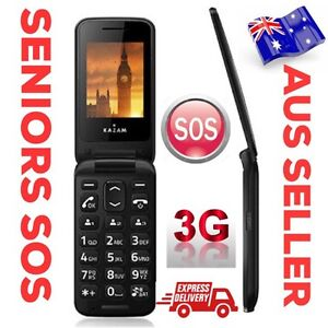 3G SENIORS MOBILE PHONE LARGE NUMBERS FLIP UNLOCKED EASY TO USE AUS SELLER