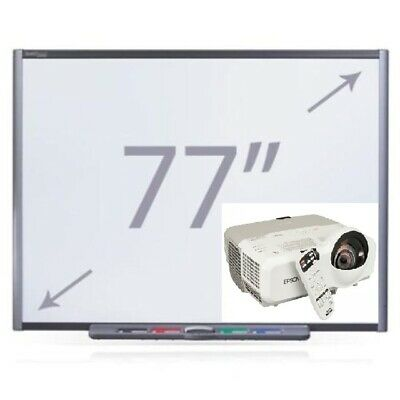77 Sb680 Interactive Smart Board Epson Short Throw Projector Complete