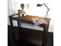 RARE Antique REFECTORY TABLE oak wood gothic kitchen desk country farmhouse War home bedroom desk