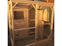 Rabbit hutch - Brand new manor pet housing bunny bothy with walk in run