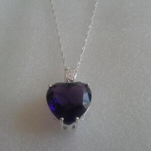 6x HEART GEM Pendant & Waterwave Necklace  NEW or  $20.00 each