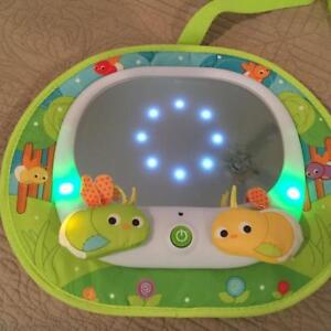 Baby car mirror with lights and sound