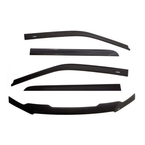 Auto Ventshade Combo Kits Ventvisor/Bug Shield Combo; Matte Finish; 56037032