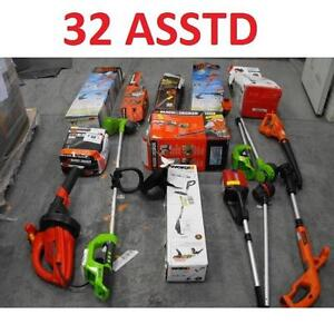 32 ASSTD POWER TOOLS LOT - 119730421 - EDGER TRIMMER BLOWER LAWN CARE GRASS MAINTENANCE SEE COMMENTS