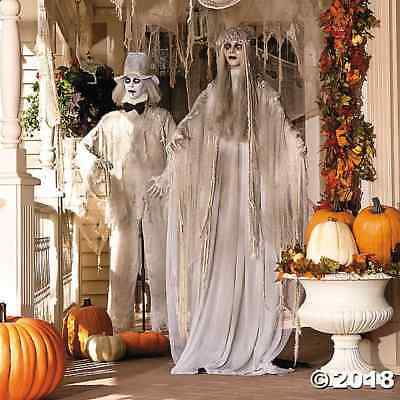 Get-up-and-go Size Zombie Bride & Groom Set of 2 Scary Lighted Halloween Props Decor SALE