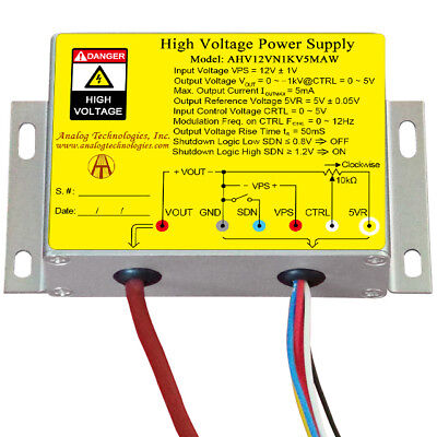 High Voltage Power Supply Dc-dc Conversion Ahv12vn1kv5maw From Usa New