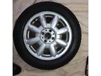 1 x Mini Alloy Wheel and Pirelli Tyre in decent condition - 175/65R15