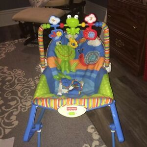 Fisher Price infant/toddler vibrating and rocking chair