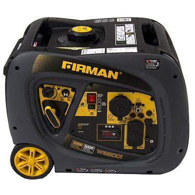 Firman Power Equipment 3000 Watt Portable Gas Inverter Generator W03081