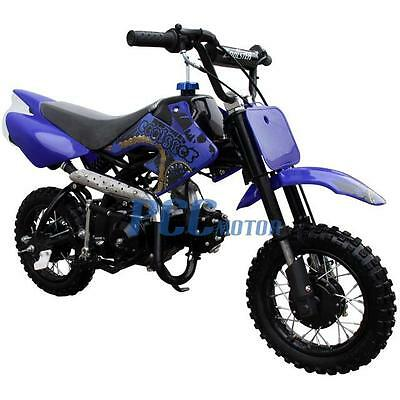 Free Shipping Coolster New 70cc Kids 4 Stroke CRF Style Dirt Bike DB70 Blue