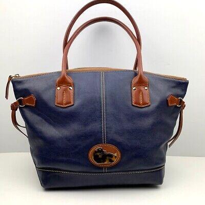 Dooney & Bourke Blue Leather Satchel Logo