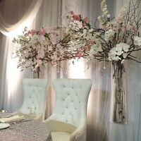 BRIDE & GROOM CHAIR/SOFA Rent-Full Selection of Decor & Linens